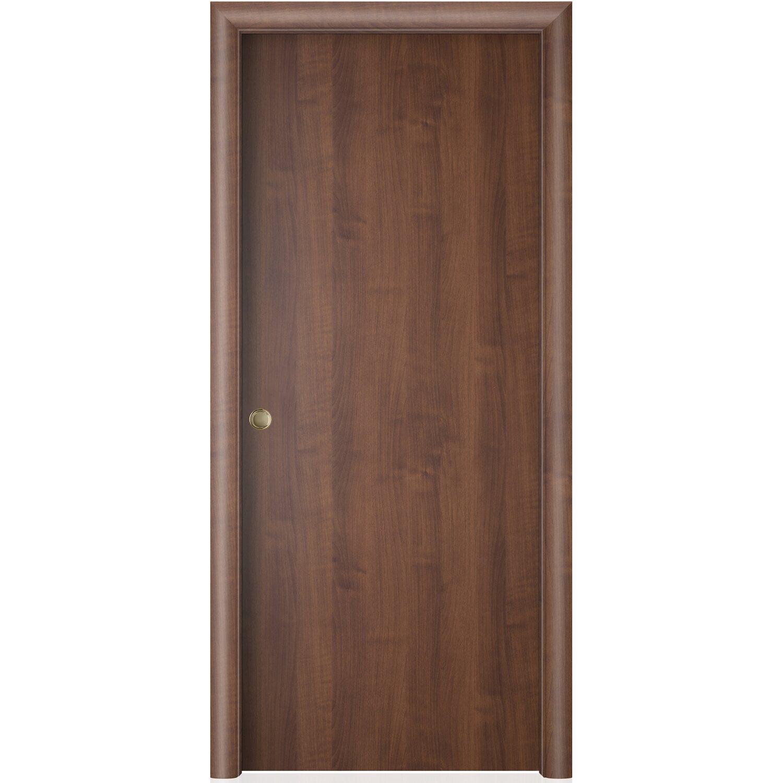 porta scorrevole reversibile badia noce 200 cm x 70 cm