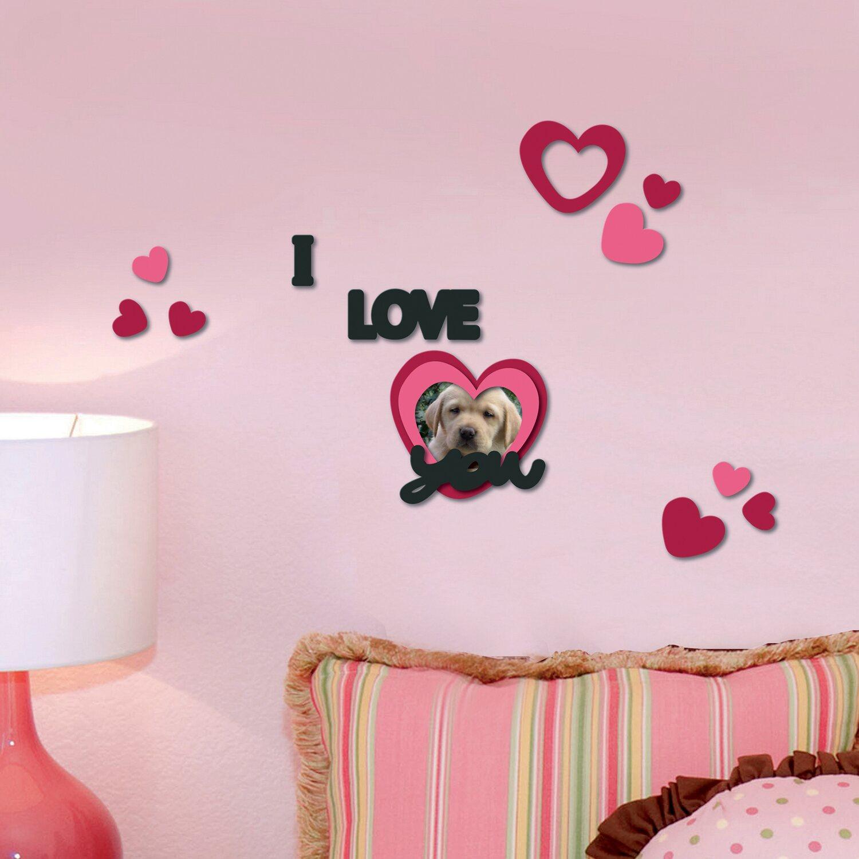 Decorazioni Adesive In Gomma Con Effetto 3d I Love You