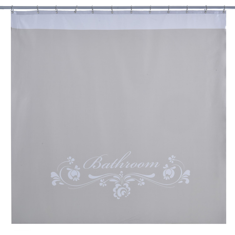Aqa Tenda Per Doccia In Tessuto Bathroom 180 Cm X 200 Cm Bianco