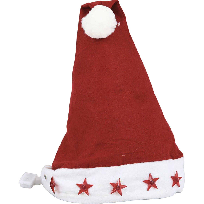 Cappello da Babbo Natale con stelle luminose acquista da OBI 577fb988963c