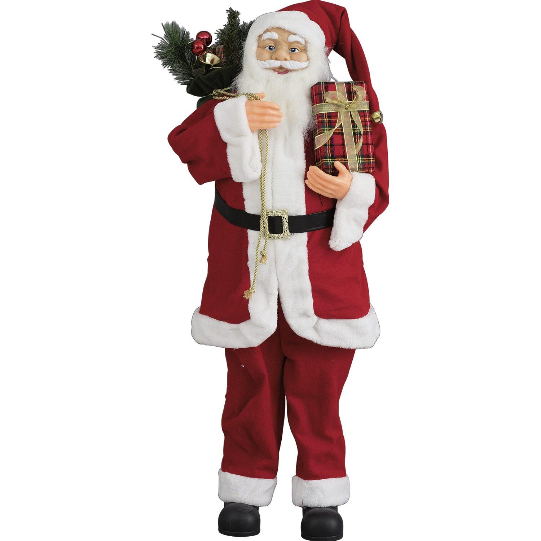 Posizione Babbo Natale.Babbo Natale Con Sacco E Doni 110 Cm Acquista Da Obi