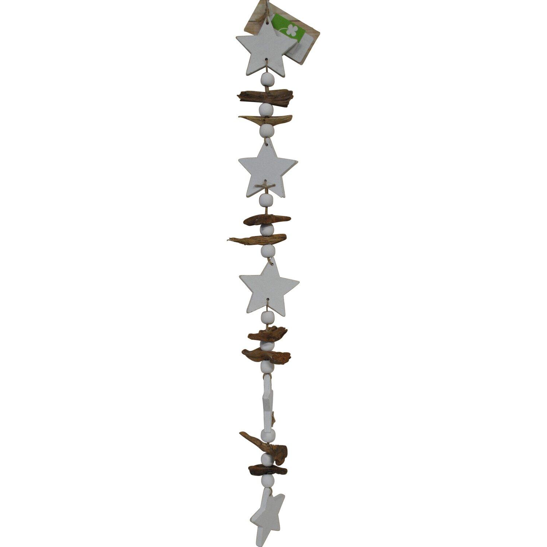 Decorazione da appendere con stelle in legno acquista da obi for Decorazioni natalizie in legno da appendere