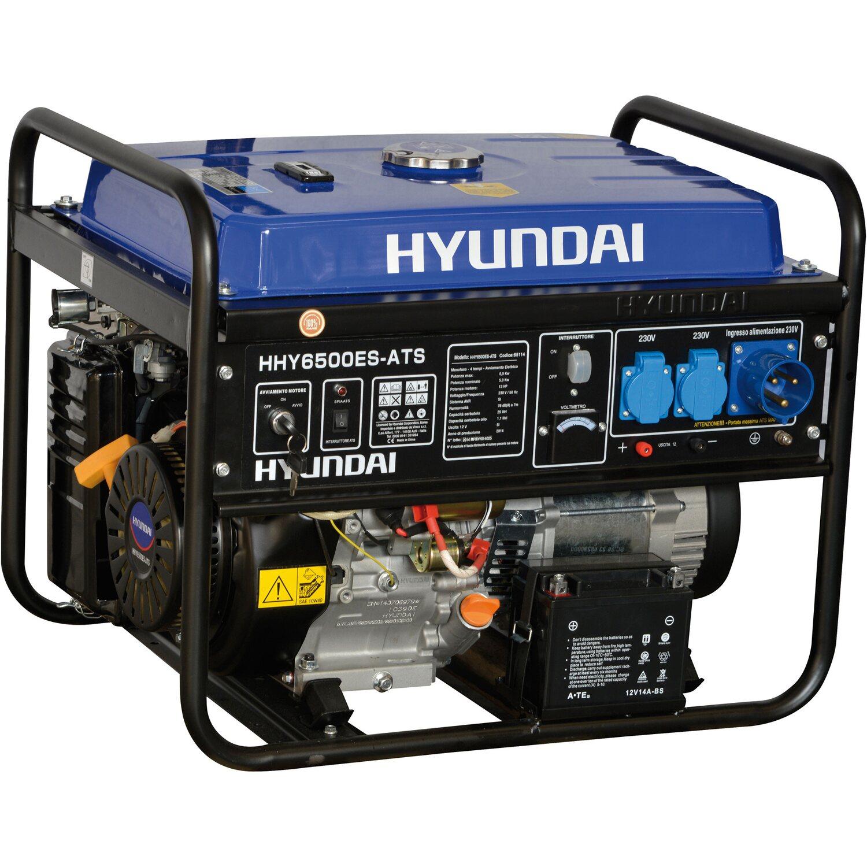 Hyundai generatore di corrente benzina 5 5 kw con for Generatore di corrente con avviamento automatico