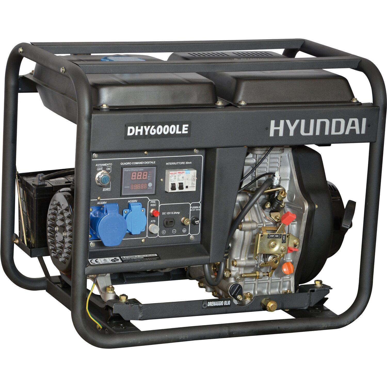 Hyundai generatore di corrente diesel 5 5 kw acquista da obi for Generatore di corrente bricoman