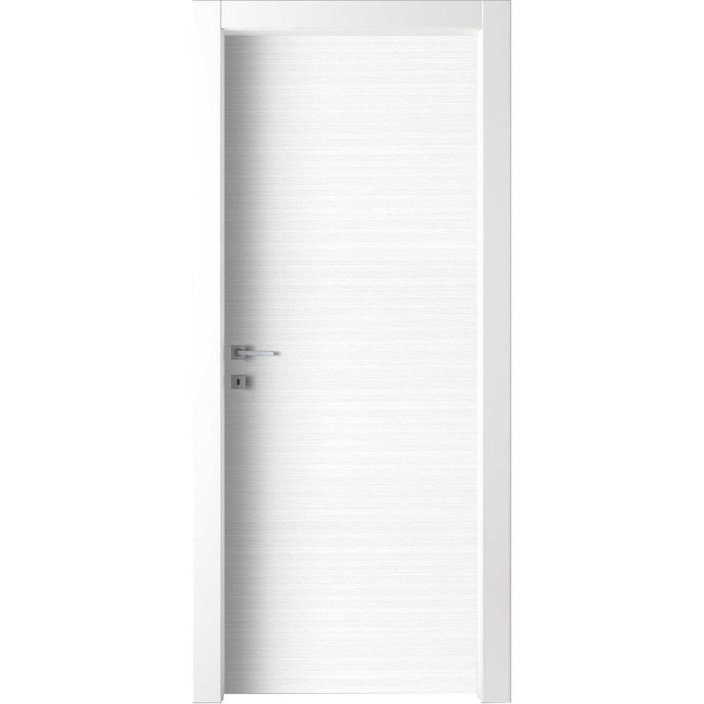 Porta a battente reversibile Lindos bianca 210 cm x 80 cm