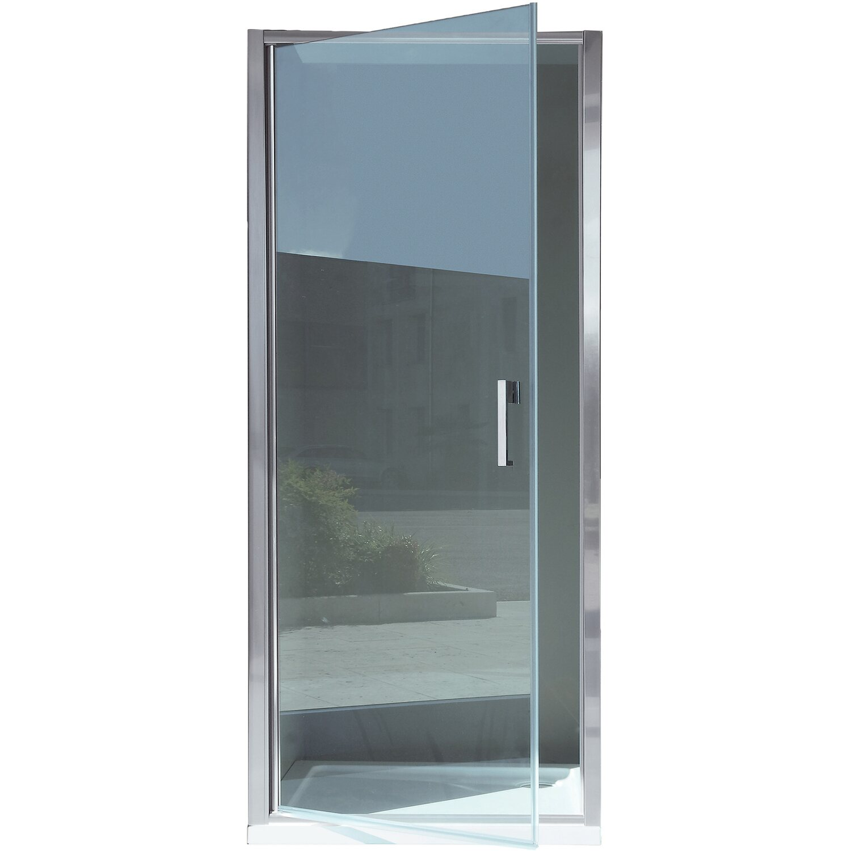 Porta battente doccia orchestra vetro trasparente cromo 67 for Porte a battente