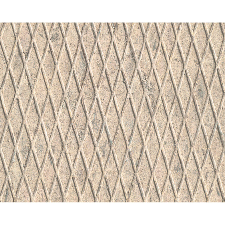 Carta da parati vinilica reticolato beige acquista da obi for Carta da parati beige