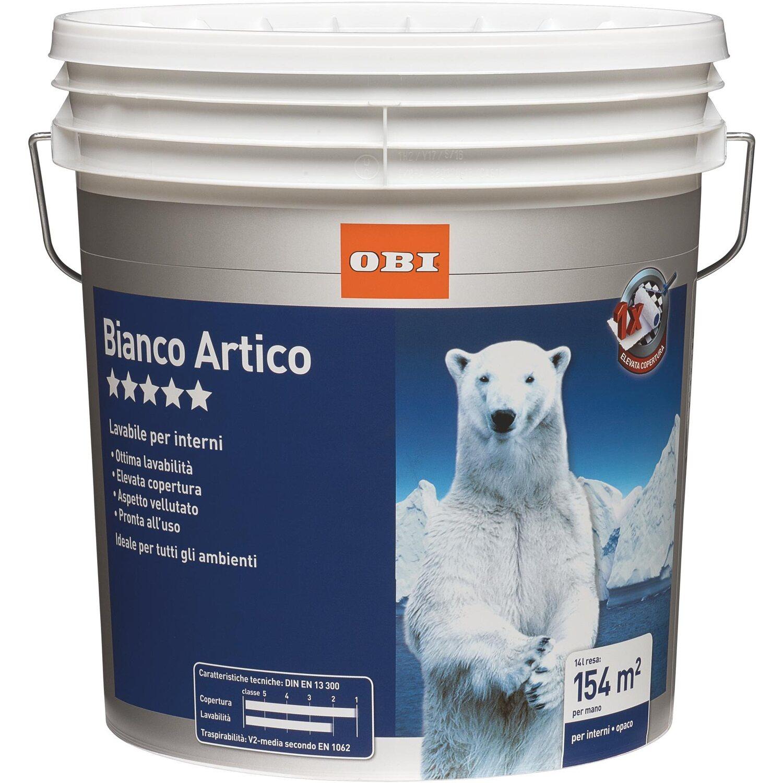 Pittura Bianca Per Interni Obi.Obi Idropittura Lavabile Bianco Artico 14 L Acquista Da Obi