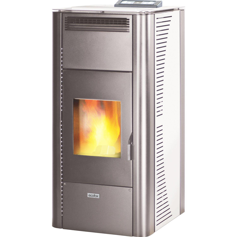Ecofox termostufa a pellet victoria 21 96 kw bianco for Stufe a pellet obi