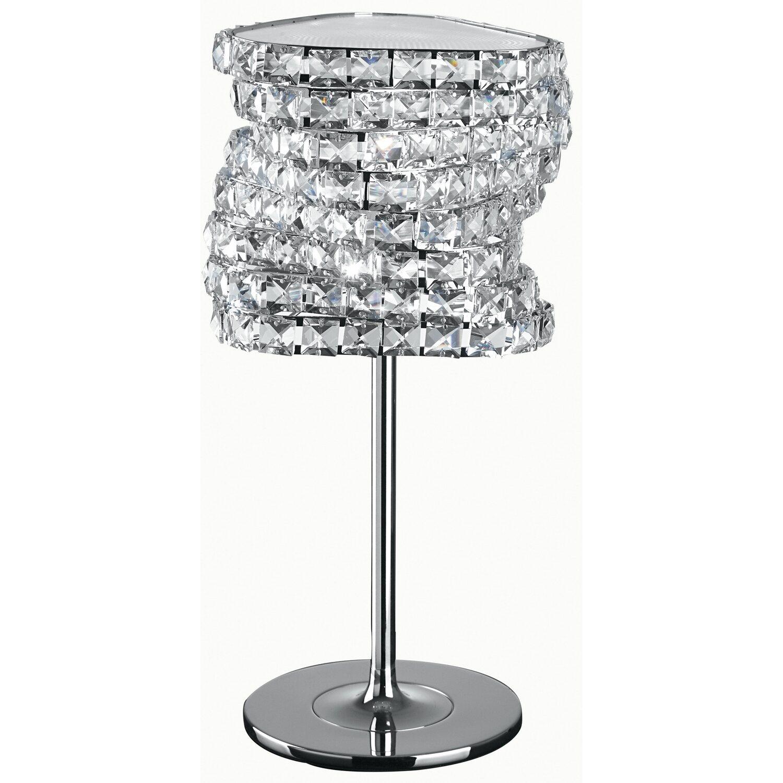 Design Lampade Da Tavolo luce ambiente design lampada da tavolo flamenco metallo con cristalli