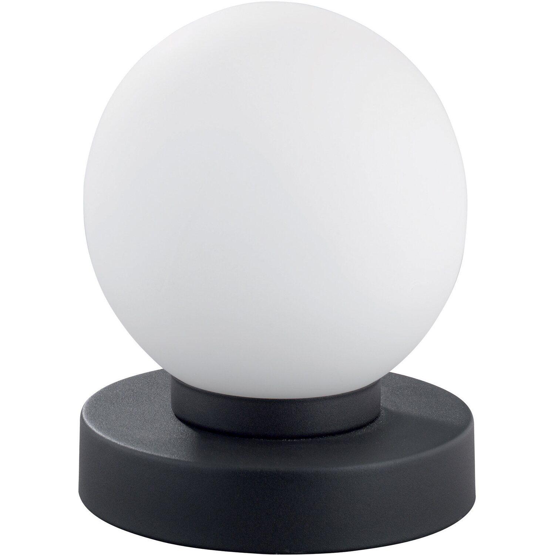 Trio lampada da tavolo Prinz touch base ruggine sfera vetro bianco ...