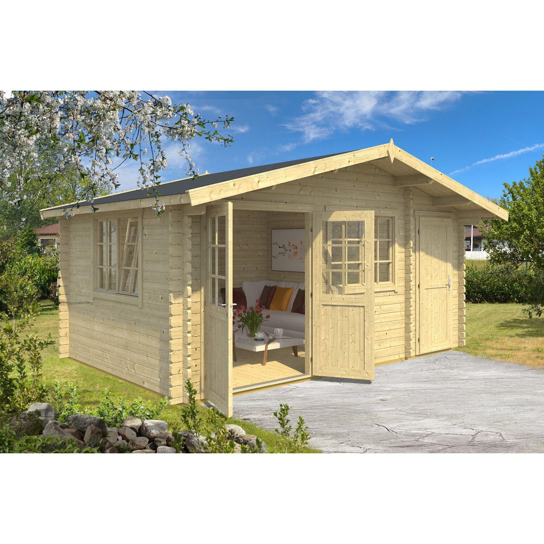 Casetta blockhouse in legno borkum 505 cm x 260 cm x 268 for Casette in legno obi