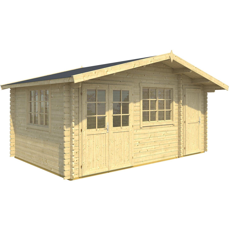 Casetta blockhouse in legno borkum 505 cm x 320 cm x 268 for Casette legno obi