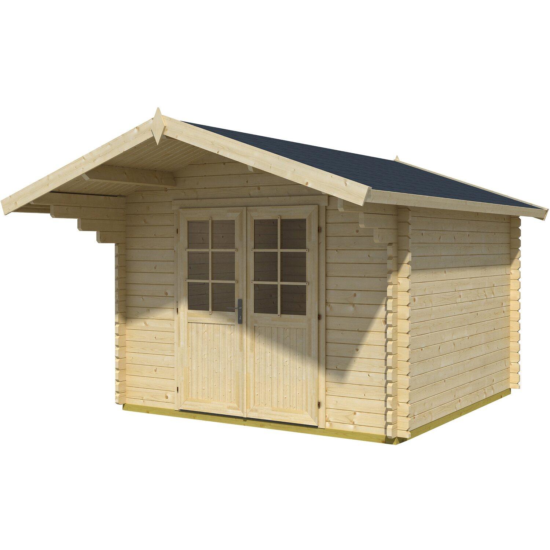 Casetta blockhouse in legno gotland porta doppia 320 cm x for Casette legno obi