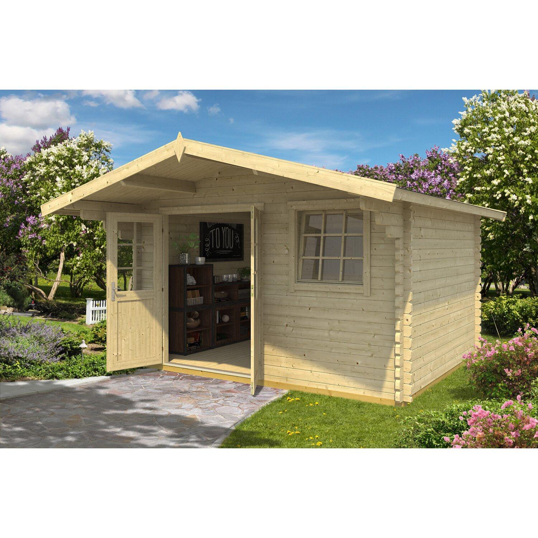 Casetta blockhouse in legno gotland 380 cm x 380 cm x 257 for Obi casette in legno
