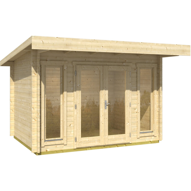 Casetta blockhouse in legno barbados 350 cm x 260 cm x 231 for Obi casette in legno