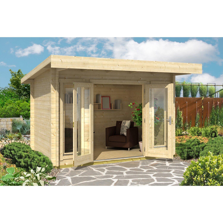 Casetta blockhouse in legno barbados 350 cm x 260 cm x 231 for Casette in legno obi