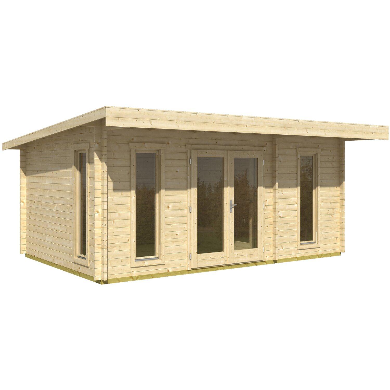 Casetta blockhouse in legno barbados 540 cm x 360 cm x 234 for Casette in legno obi