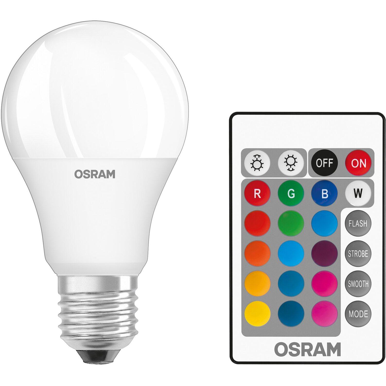 Osram lampadina led star rgbw e27 luce rgb e bianca calda for Lampadine faretti led luce calda