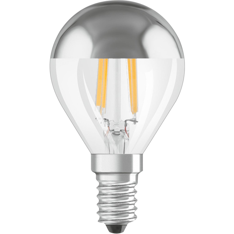 Osram lampadina led cupola argentata e14 luce calda for Lampadine a led e14