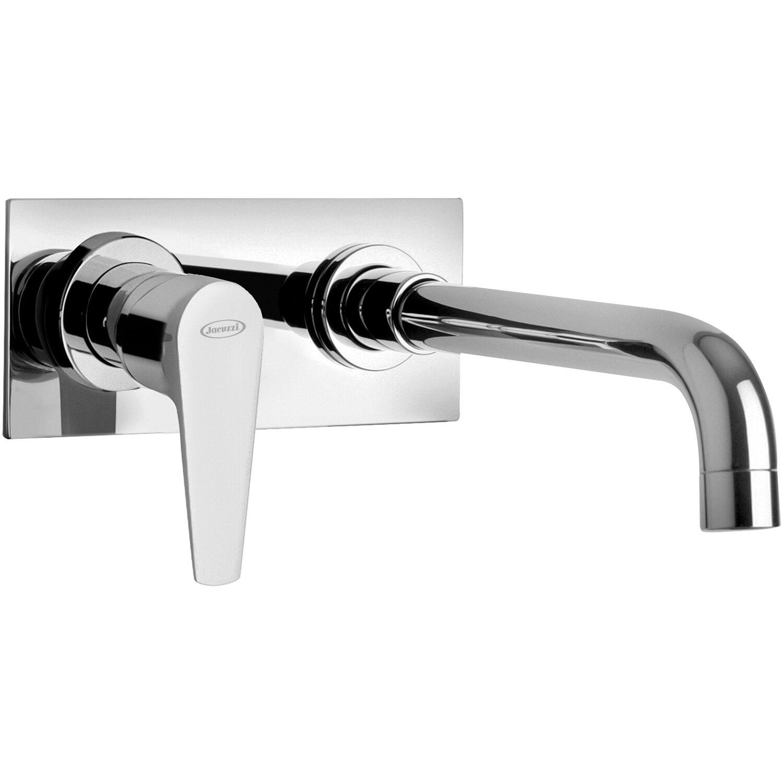 Miscelatore A Muro Per Lavabo jacuzzi rubinetteria miscelatore lavabo a muro con piastra