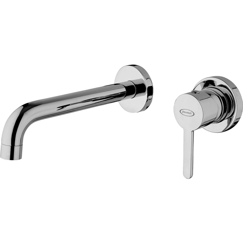 Miscelatore A Muro Per Lavabo jacuzzi rubinetteria miscelatore lavabo a muro cilindro cromo