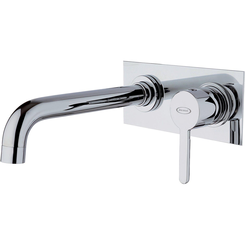 Miscelatore A Muro Per Lavabo jacuzzi rubinetteria miscelatore lavabo a muro con piastra cilindro cromo