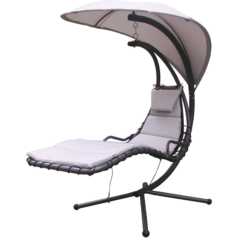Sedia a dondolo in acciaio textilene e poliestere cuscino - Sedia a dondolo prezzo ...