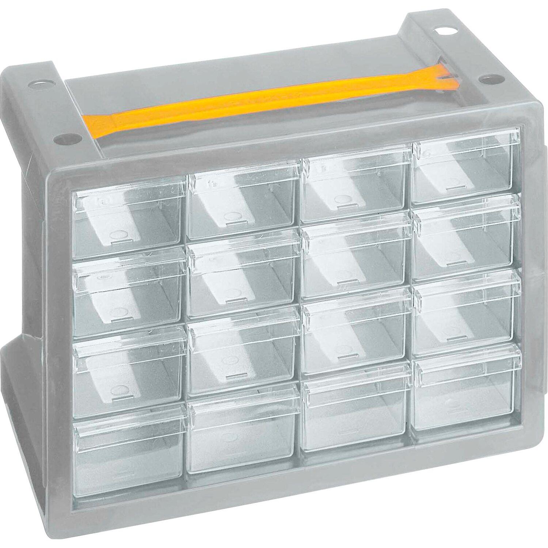 Cassettiere Plastica Per Minuterie.Cassettiera Portaminuteria Poker 16 Grigio Obi