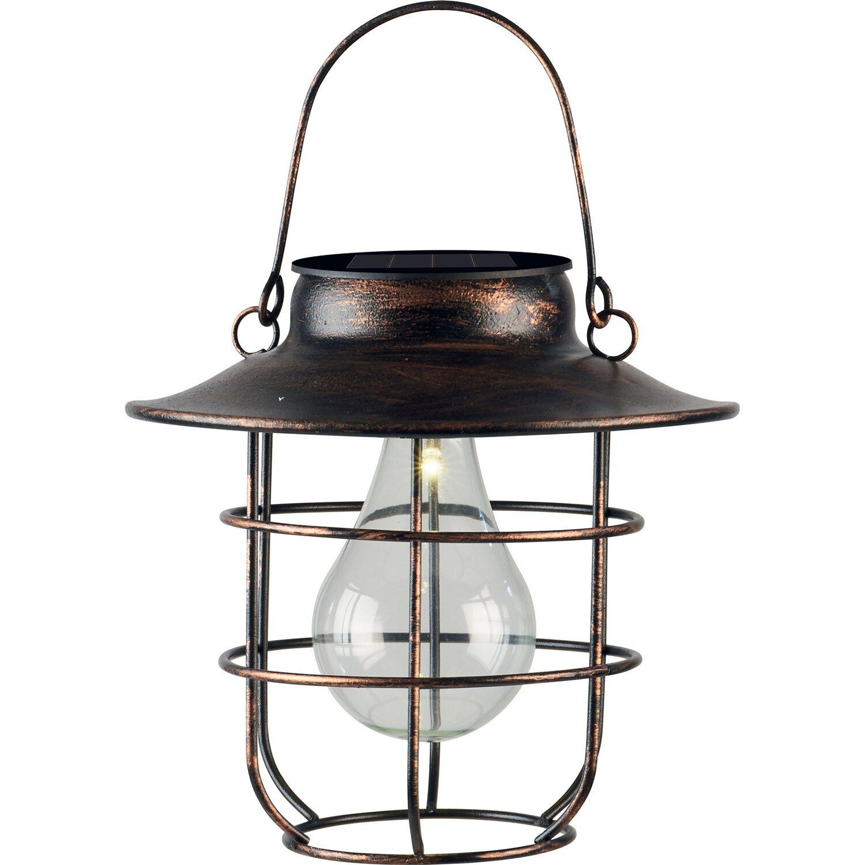 Obi Lighting Lampada Da Tavolo Solare In Metallo 20 Cm Bronzo Obi