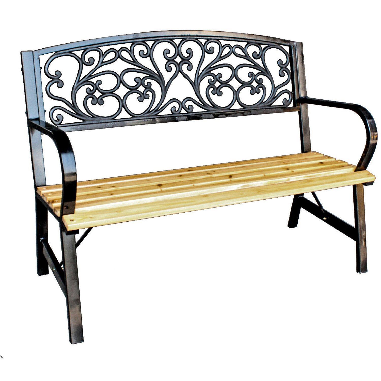 Panchine In Ghisa Da Giardino.Panca Con Seduta In Legno E Schienale In Ghisa Obi