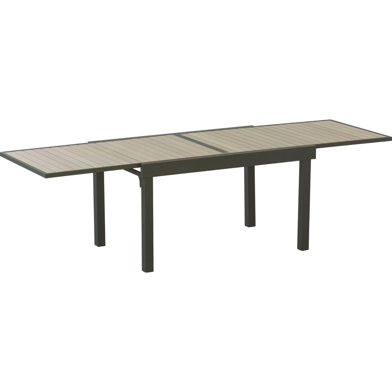 Tavoli Da Esterno Plastica Allungabili.Tavolo Rettangolare Allungabile In Alluminio Con Piano In Polywood