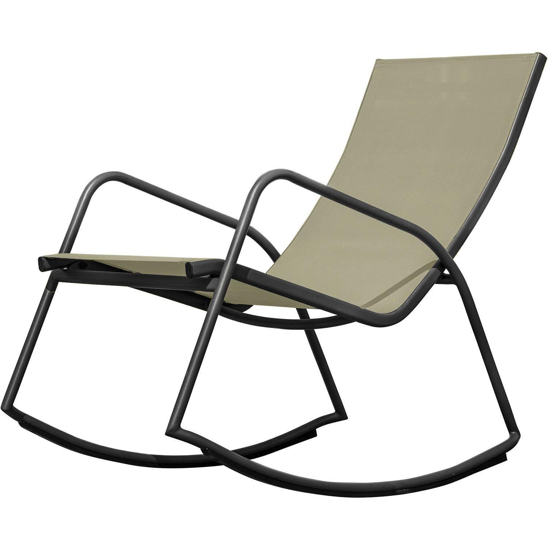 sedia a dondolo in acciaio e textilene colore assortito