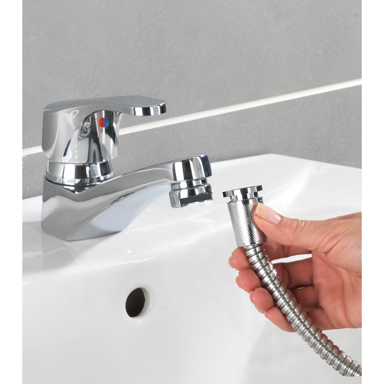 Tubo Scarico Lavandino Bagno doccetta universale in acciaio inox per lavabo