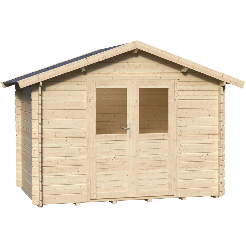 Casetta blockhouse navarra in legno acquista da obi for Recinzioni in legno obi