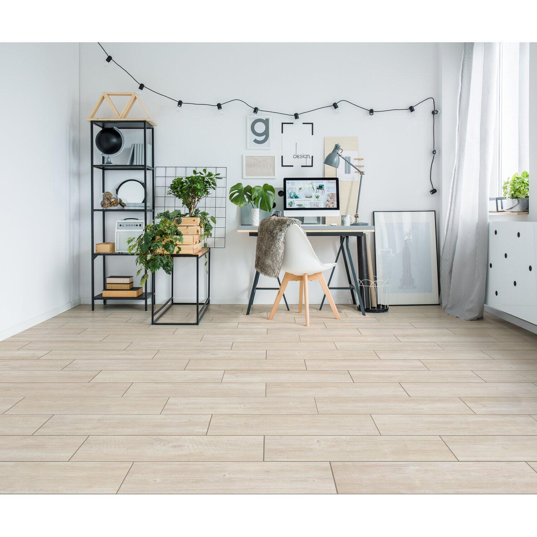 Piastrella pavimento Streetwood bianco grès porcellanato effetto legno  15x60 cm
