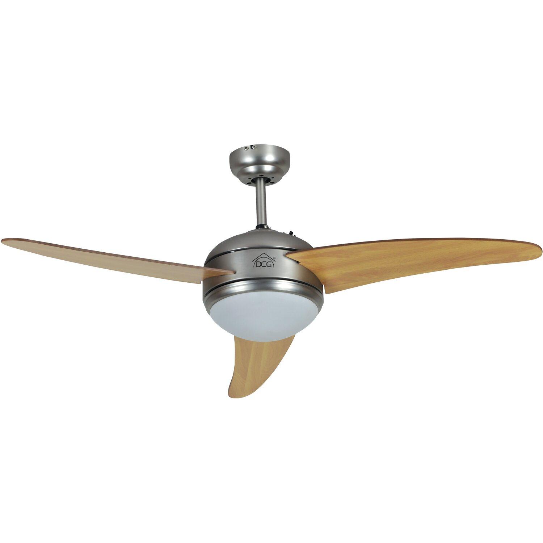 Ventilatore Da Soffitto 3 Pale Legno Con Telecomando