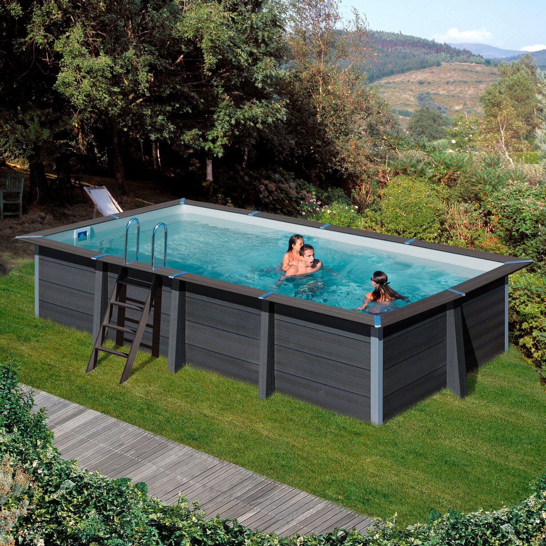 Gre piscine italia piscina tenerife tonda bianca liner for Interrare piscina intex