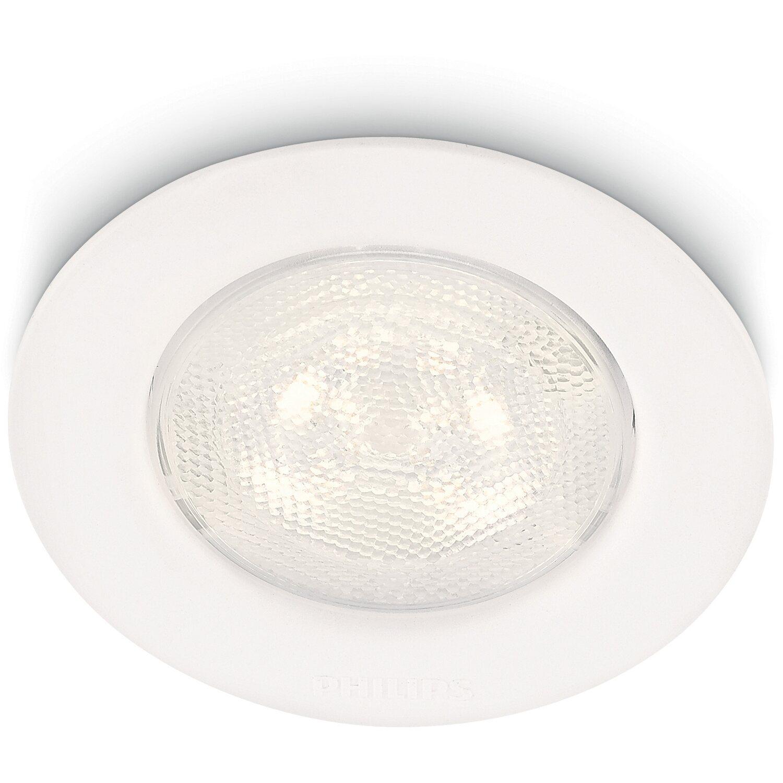 Faretti Da Incasso A Led.Philips Faretto Da Incasso Led Integrato Sceptrum Bianco Satinato