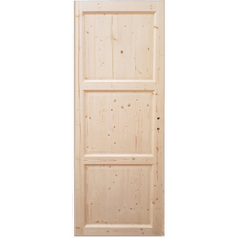 Porta Battente Reversibile In Abete Grezzo 70 X 210 Cm