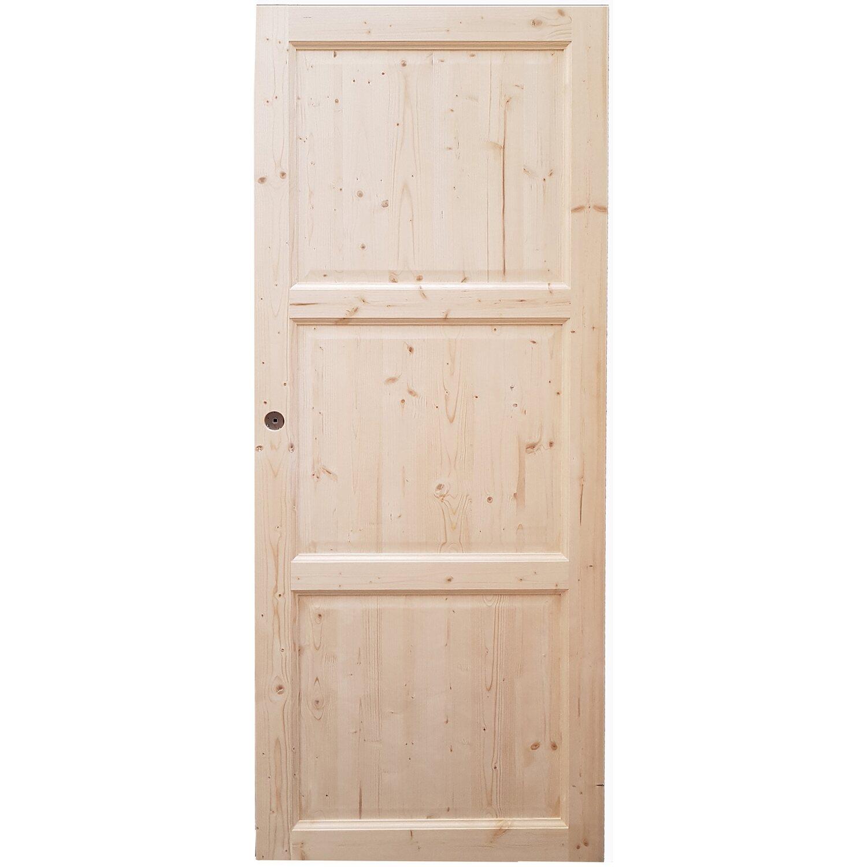 Porta scorrevole reversibile in abete grezzo 70 x 200 cm