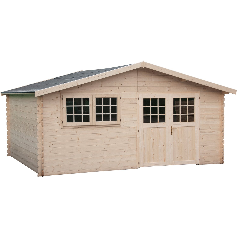 Casetta blokhaus in legno capri cm 493x400 acquista da obi for Casette legno obi