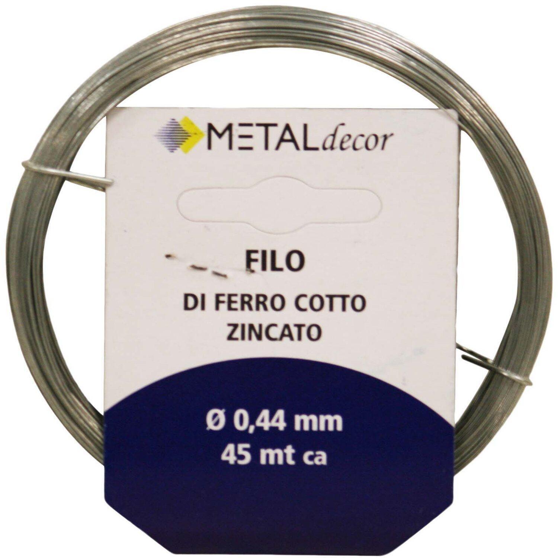 Prezzo Del Ferro Per Edilizia matassina filo di ferro cotto zincato Ø 0,44 mm - 45 mt