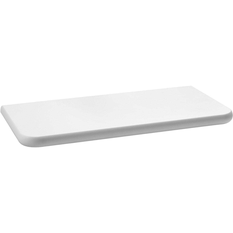 mensola linea norma laccata bianca 760 mm x 180 mm x 18 mm