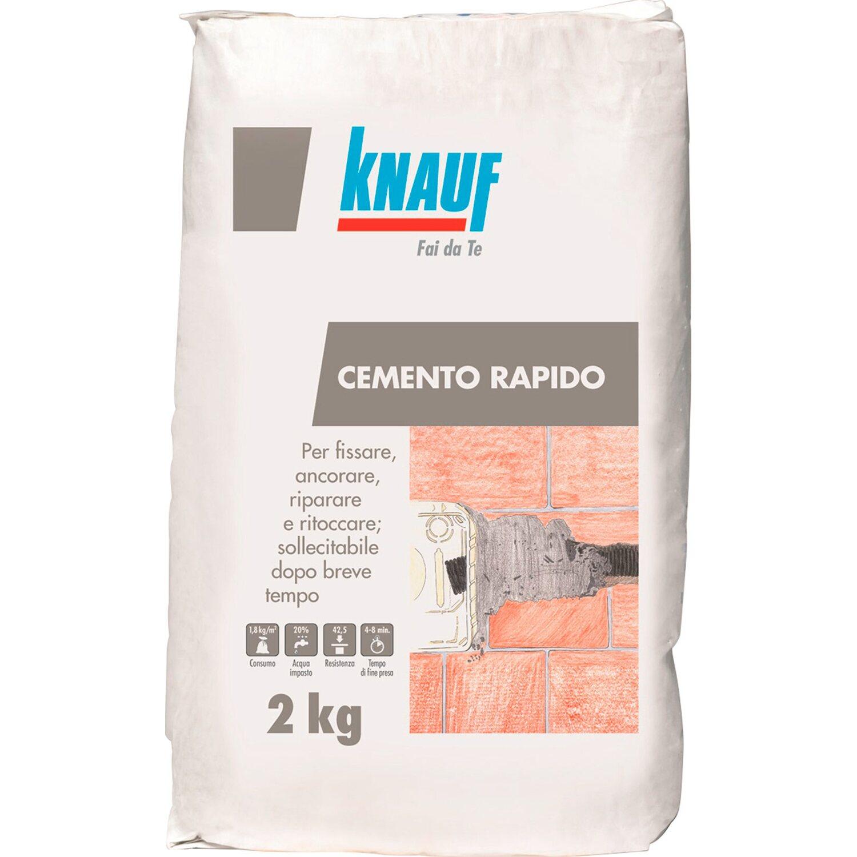 Cemento Premiscelato Per Top Cucina knauf cemento rapido antiritiro 2 kg