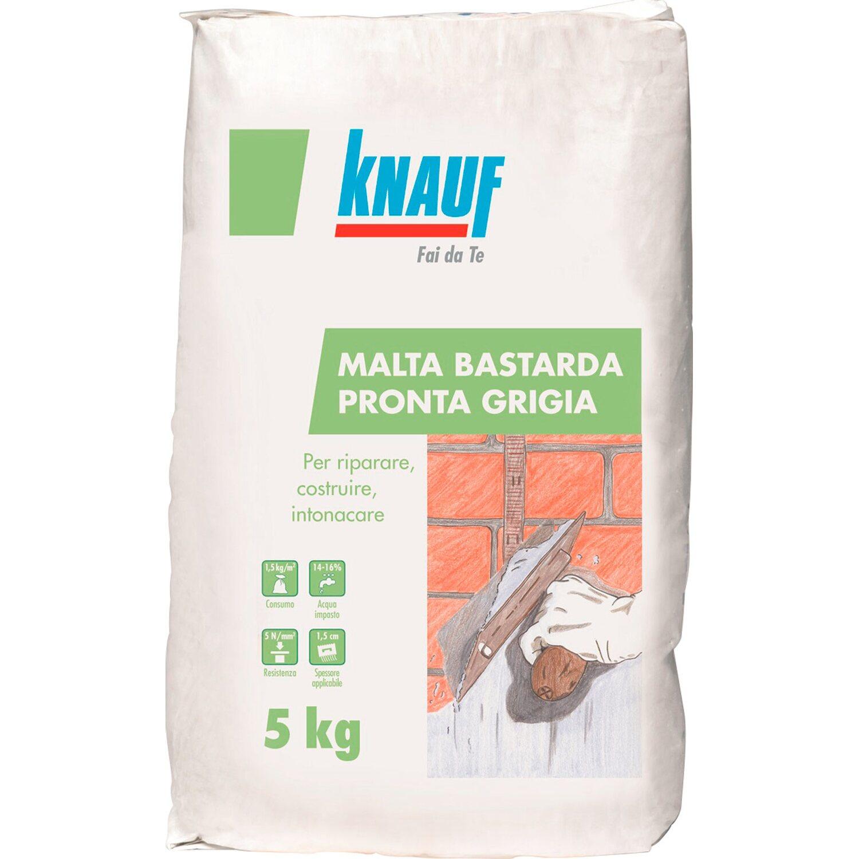 Cemento Premiscelato Per Top Cucina knauf malta pronta grigia 5 kg