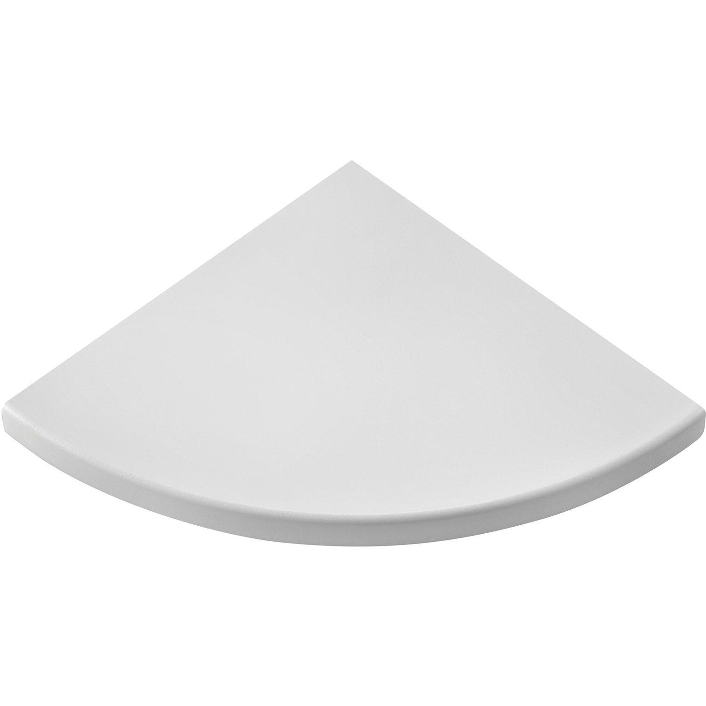 Mensole Angolari Colorate.Mensola Angolare Bianca 500 Mm X 500 Mm X 25 Mm