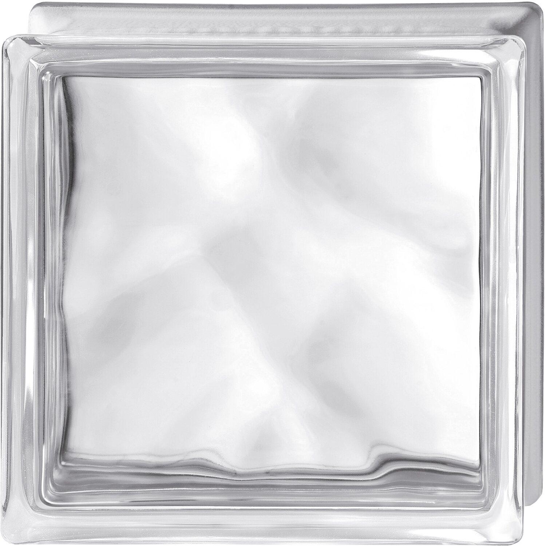 Pareti In Vetrocemento Prezzi vetromattone quadrato ondulato trasparente