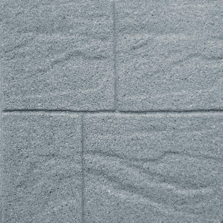 Posa Pavimento A Secco Giardino pavimento mattone grigio 40 x 40 cm