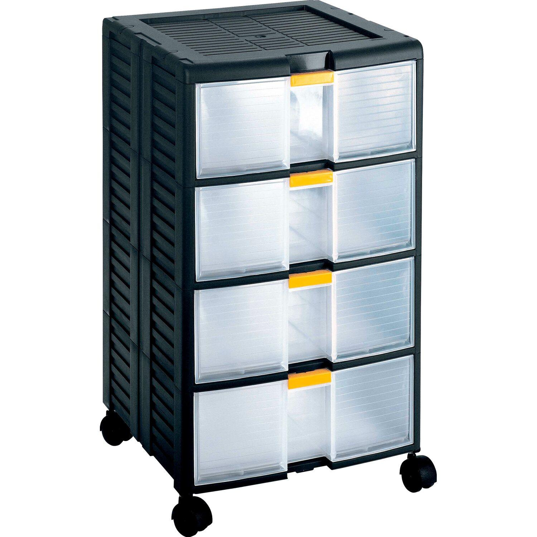 Cassettiera storeage 44001 4 cassetti con ruote acquista - Mobili con ruote ...